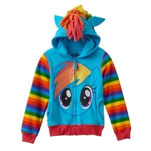 My Little Pony Rainbow Dash Glitter Hoodie Size6X